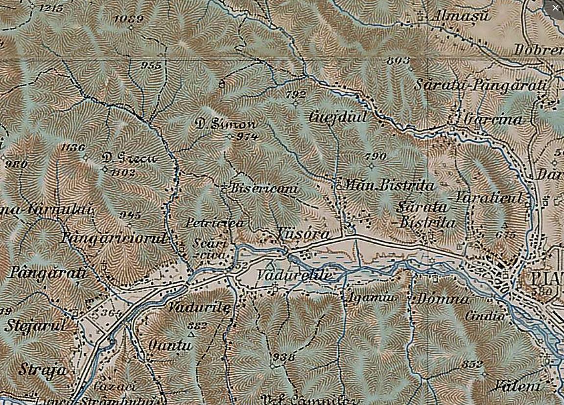 Extras din Harta militara Austro-Ungara